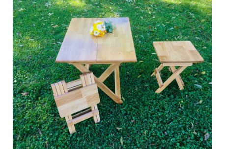 Set masă pliabila + 2 scaune pliabile